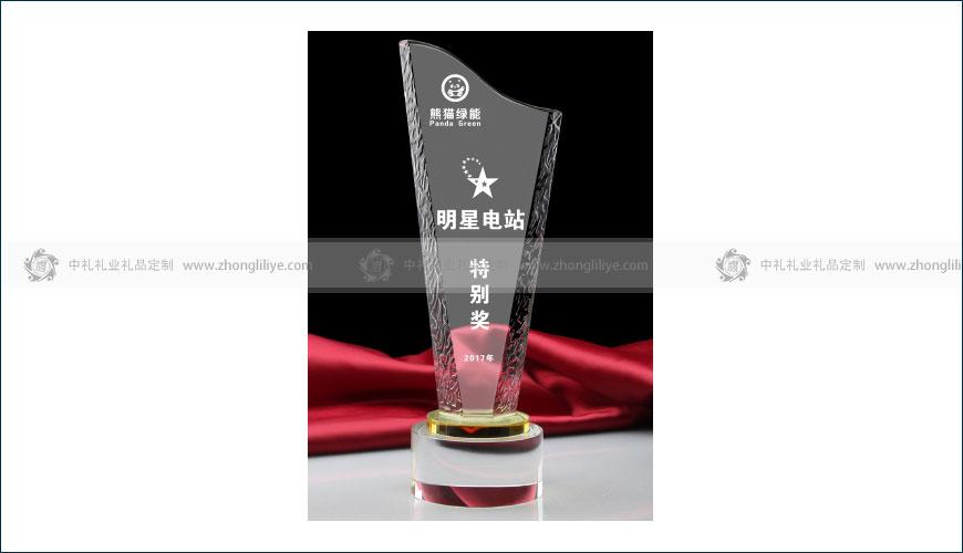 明星電站特別獎獎杯定制
